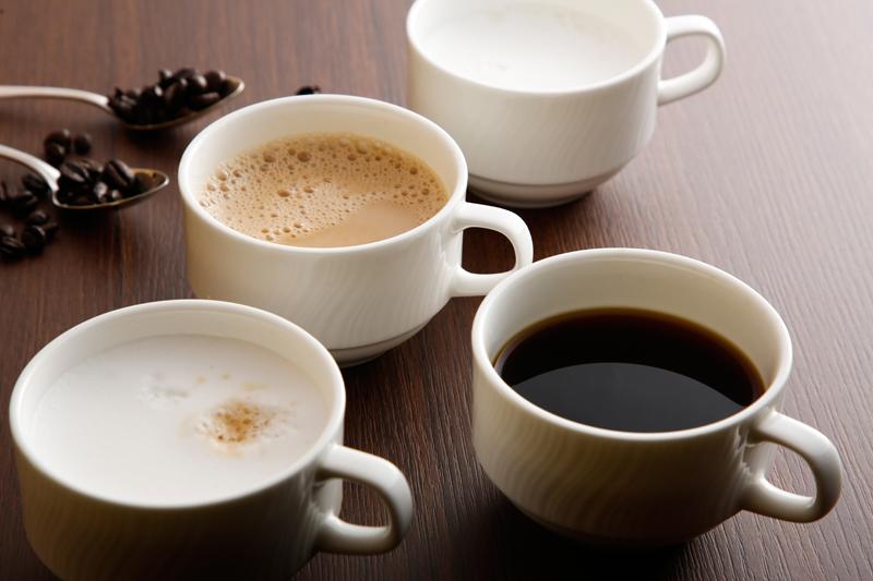 コーヒー、カフェオレ、カプチーノなど。(イメージ)