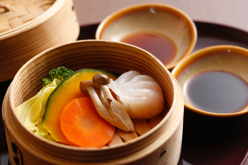 点心と地野菜のセイロ蒸し(イメージ)