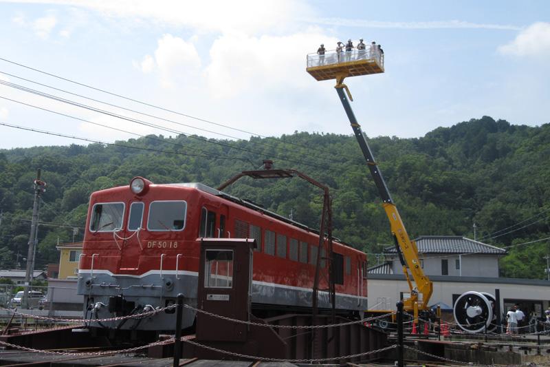 津山まなびの鉄道館 GW限定の特別イベント「開館5周年記念 扇形こどもまつり」が開催