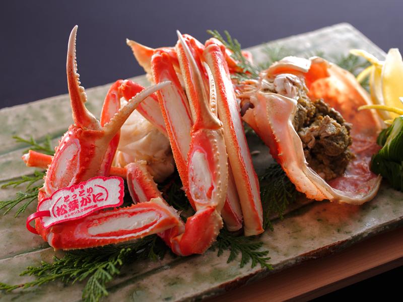 冬限定★タグ付き活「とっとり松葉がに」を味わう蟹づくし懐石コース